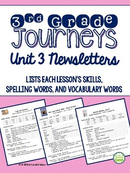 Journeys Third Grade Unit 3 BUNDLE of Resources