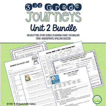 Journeys Third Grade Unit 2 BUNDLE of Resources