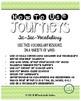 Journeys 2014 Third Grade, Unit 2 Tic-Tac-Vocabulary