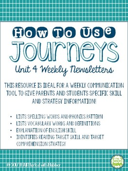 Journeys Third Grade Unit 4 - ALL Resources