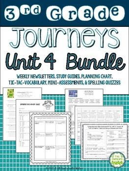 Journeys Third Grade Unit 4 BUNDLE of Resources