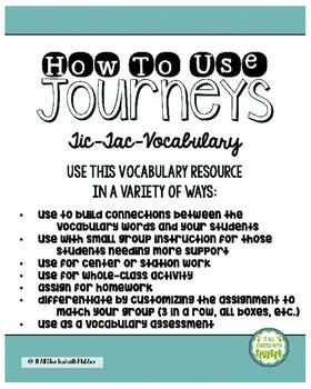 Journeys Third Grade Unit 4 Tic-Tac-Vocabulary