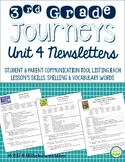Journeys 3rd Grade, Unit 4, Weekly Newsletters