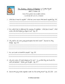 Journeys Third Grade Unit 5 BUNDLE of Resources