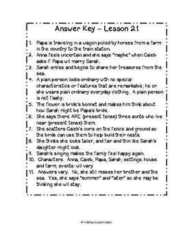 Journeys Third Grade Unit 5, Study Guide Comprehension Questions