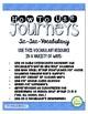 Journeys 2014 Third Grade, Unit 5 Tic-Tac-Vocabulary
