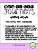 Journeys Third Grade Unit 6 Spelling Quizzes and Sentence