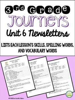 Journeys 2014 Third Grade, Unit 6, Weekly Newsletters