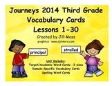 Journeys 2014/2017 Third Grade Vocabulary Cards for Lesson 1-30