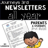 Journeys Third Grade Weekly Newsletters BUNDLE