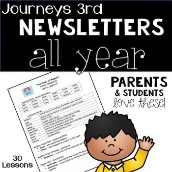 Journeys 2014 Third Grade, Weekly Newsletters BUNDLE