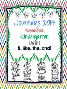 Journeys 2014 Kindergarten Unit 1 Resource Pack