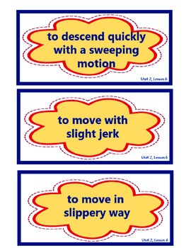 Journeys Unit 2 Vocabulary Card Bundle for Lessons 6-10, 3rd Grade