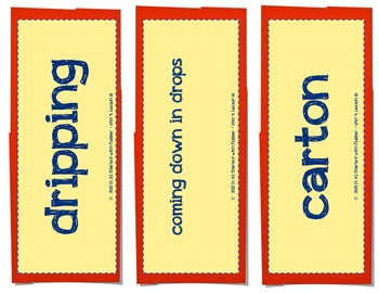 Journeys Unit 4 Vocabulary Card Bundle for Lessons 16-20, 3rd Grade