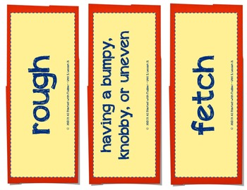 Journeys Unit 5 Vocabulary Card Bundle for Lessons 21-25, 3rd Grade