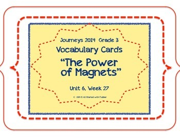 Journeys Unit 6 Vocabulary Card Bundle for Lessons 26-30, 3rd Grade