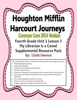 Journeys 2014 Version Fourth Grade Unit 1 Lesson 3 - My Librarian is a Camel