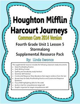 Journeys 2014 Version Fourth Grade Unit 1 Lesson 5 - Stormalong