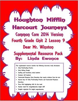 Journeys 2014 Version Fourth Grade Unit 2 Lesson 9 - Dear Mr. Winston