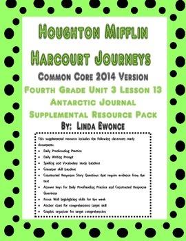 Journeys 2014 Version Fourth Grade Unit 3 Lesson 13- Antar