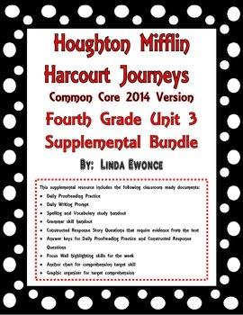 Journeys 2014 Version Fourth Grade Unit 3 Supplemental Bundle
