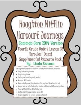 Journeys 2014 Version Fourth Grade Unit 4 Lesson 18 - Hercules' Quest
