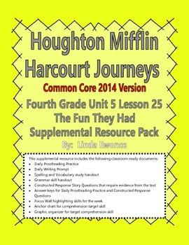 Journeys 2014 Version Fourth Grade Unit 5 Lesson 25 - The