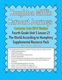 Journeys 2014 Version Fourth Grade Unit 5 Ls 21 -The World According to Humphrey