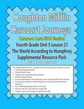 Journeys 2014 Version Fourth Grade Unit 5 Ls 21 -The World