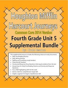 Journeys 2014 Version Fourth Grade Unit 5 Supplemental Bundle