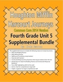 Journeys 2014 Version Fourth Grade Unit 5 Supplemental Bundle