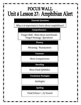 Journeys 2014 Version Fourth Grade Unit 6 Lesson 27 - Amphibian Alert