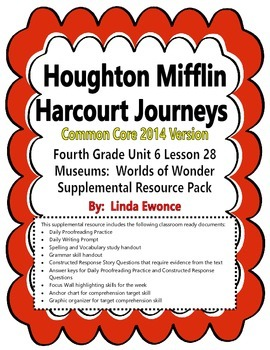 Journeys 2014 Version Fourth Grade Unit 6 Lesson 28 - Museums:  Worlds of Wonder