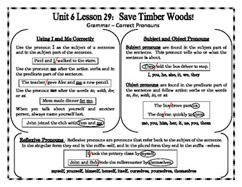 Journeys 2014 Version Fourth Grade Unit 6 Lesson 29 - Save Timber Woods!