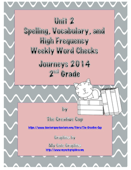 Journeys 2014 Weekly Word Checks for Unit 2 (Second Grade)