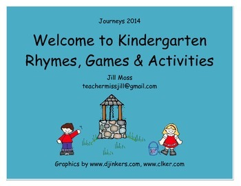 Journeys 2014/2017 Welcome to Kindergarten Two Week Unit