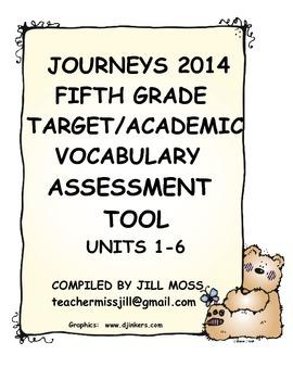 Journeys 2014/2017 Fifth Grade Target/Academic Vocabulary Assessment Tool