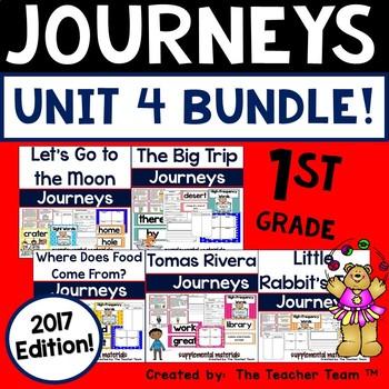 Journeys 1st Grade Unit 4 Supplemental Activities and Printables 2017