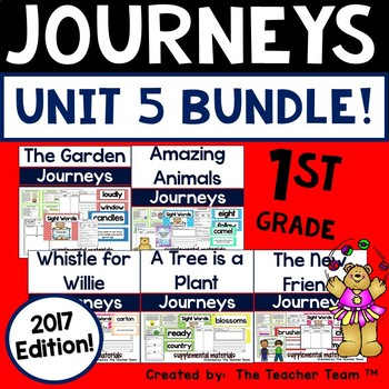 Journeys 2017 1st Grade Unit 5, Lessons 21 through 25, Activities and Printables