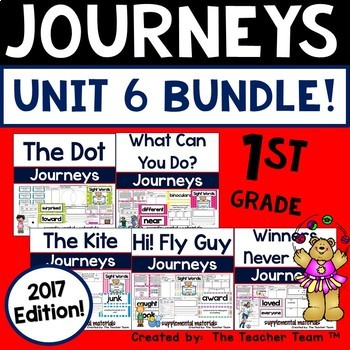 Journeys 1st Grade Unit 6 Supplemental Activities and Printables 2017