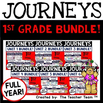 Journeys 1st Grade Units 1-6 Center Activities Year Bundle for 2017 or 2014