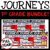 Journeys 1st Grade Units 1-6 2017-2014 Supplemental Activities Full Year Bundle