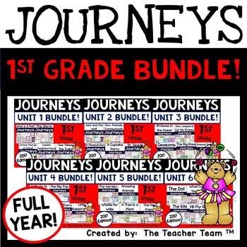 Journeys 1st Grade Units 1-6 2017-2014 Supplemental Activities Full Year Bundle