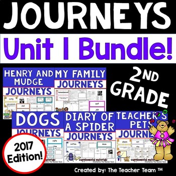 Journeys  2nd Grade Unit 1 Supplemental Activities and Printables 2017