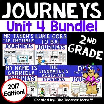 Journeys 2nd Grade Unit 4 Supplemental Activities & Printables 2017