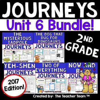 Journeys 2nd Grade Unit 6 Supplemental Activities & Printables 2017