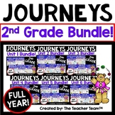 Journeys  2nd Grade Units 1-6 Supplemental Materials Full Year Bundle 2017