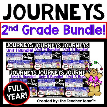 Journeys  2nd Grade Units 1-6 Supplemental Full Year Bundle 2017