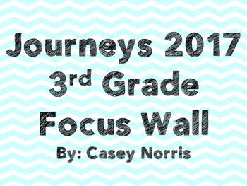 Journeys 2017 3rd Grade Focus Wall