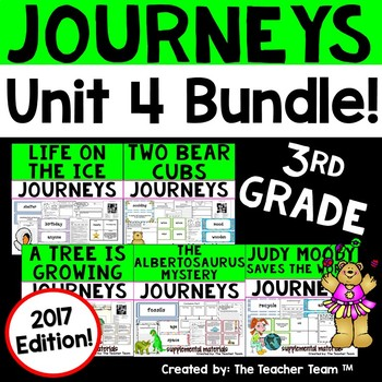 Journeys 3rd Grade Unit 4 Supplemental Activities & Printables 2017